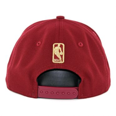 New Era 9Fifty Cleveland Cavaliers Metal Framed Snapback Hat Burgundy