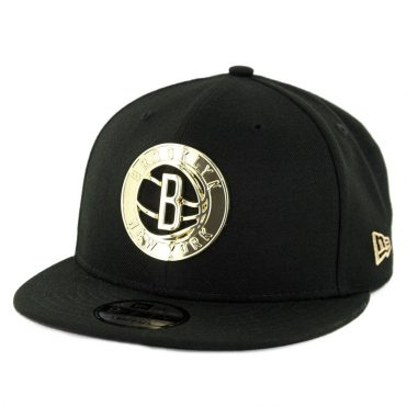 New Era 9Fifty Brooklyn Nets Metal Framed Snapback Hat Black