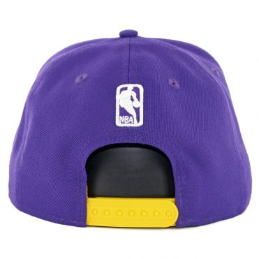 New Era 9Fifty Los Angeles Lakers Faded Front Snapback Hat Purple