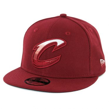New Era 9Fifty Cleveland Cavaliers Faded Front Snapback Hat Burgundy