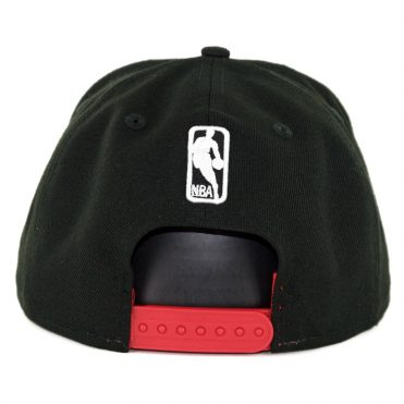 New Era 9Fifty Chicago Bulls Faded Front Snapback Hat Black