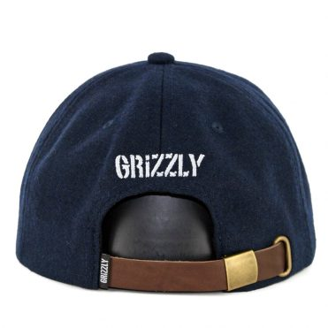 Grizzly Antique OG Bear Strapback Hat Navy Brown