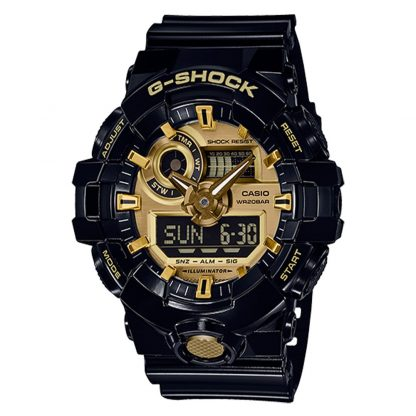 G-Shock GA710GB-1A Watch Black Gold