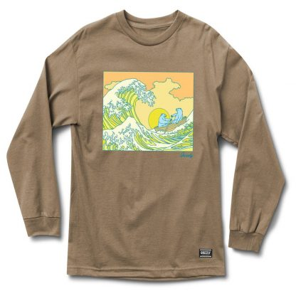 Grizzly Wavey Long Sleeve T-Shirt Sand
