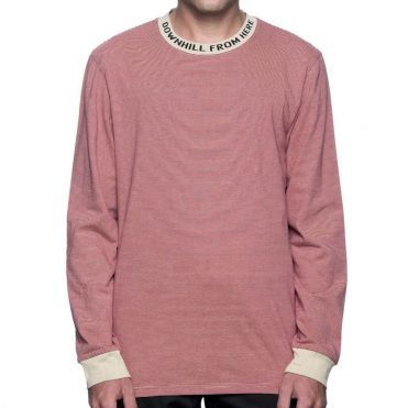 HUF Downhill Long Sleeve Stripe T-Shirt Red
