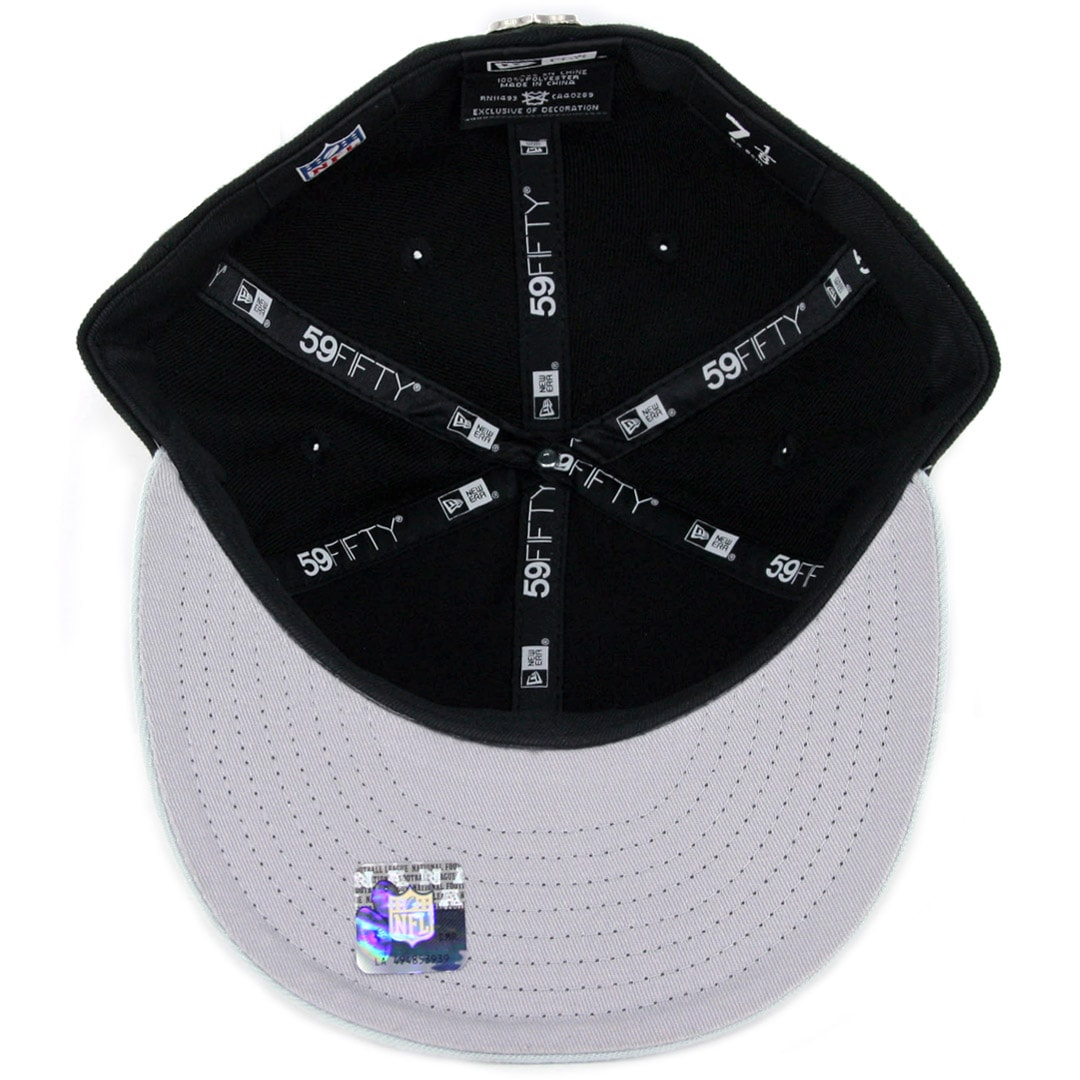 finest selection 66ce0 bc3c6 New Era 59Fifty Oakland Raiders Golden Finish Fitted Hat Black. 🔍.  36.00