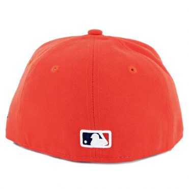 New Era 59Fifty Houston Astros Alternate 1 Youth Authentic On Field Fitted Hat Orange Navy
