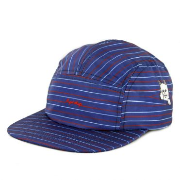 Rip N Dip Peeking Nylon Camper Strapback Hat Navy Red White