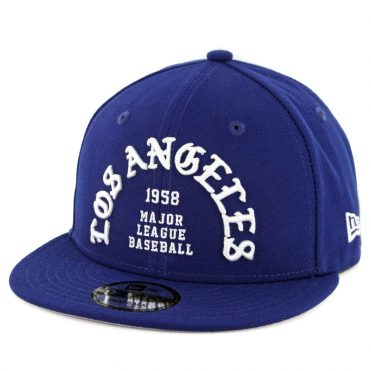 New Era 9Fifty Los Angeles Dodgers Team Deluxe Snapback Hat Dark Royal Blue
