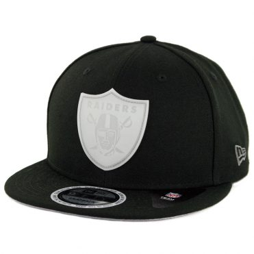 New Era 9Fifty Oakland Raiders Glow Game Snapback Hat Black