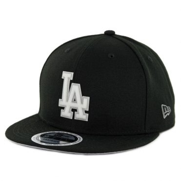 New Era 9Fifty Los Angeles Dodgers Glow Game Snapback Hat Black