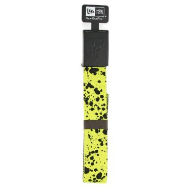 New Era Rubberized Web Belt Lime Splatter