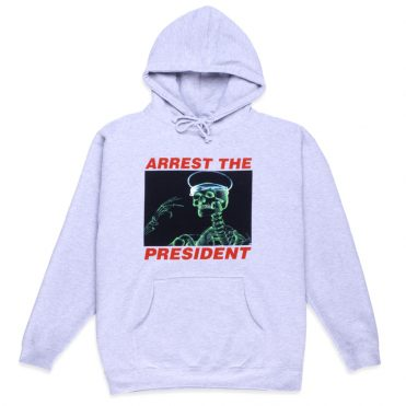 10 Deep Arrest The President Pullover Hooded Sweatshirt Heather Grey