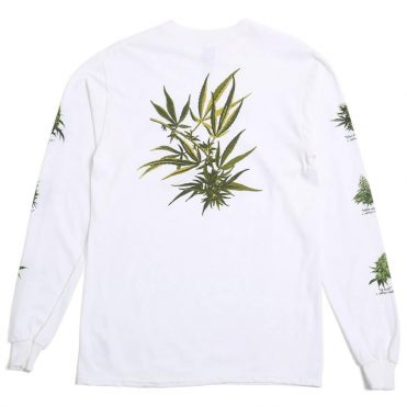 HUF Tropical Plants Long Sleeve T-Shirt White