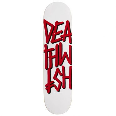 Deathwish Deathstack White Red Skateboard Deck