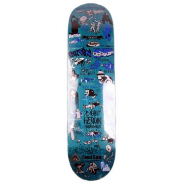 Heroin 20 Years Part One Skateboard Deck Multi