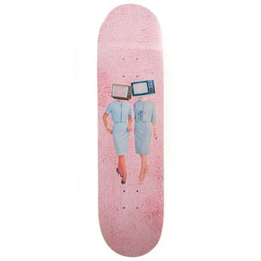 Illegal Civilization TV Heads Skateboard Deck Multi