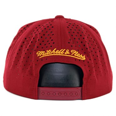 Mitchell & Ness Cleveland Cavaliers Perforated Fade Snapback Hat Maroon