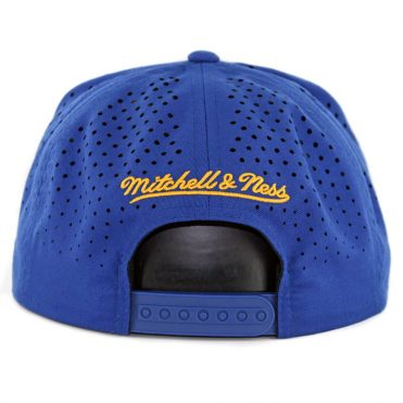 Mitchell & Ness Golden State Warriors Perforated Fade Snapback Hat Blue
