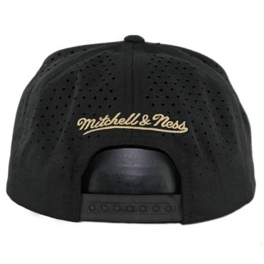Mitchell & Ness Los Angeles Football Club Perforated Fade Snapback Hat Black