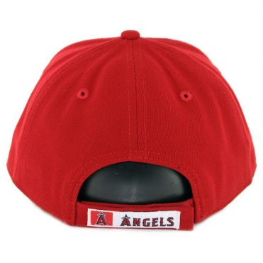 New Era 9Forty Los Angeles Angels Of Anaheim Game The League Strapback Hat Red