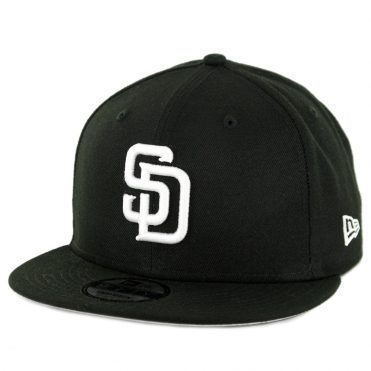 New Era 9Fifty San Diego Padres Basic Snapback Hat Black White