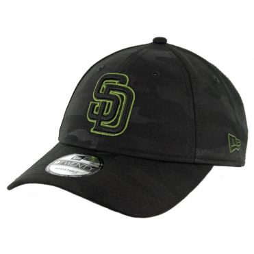 New Era 9Twenty San Diego Padres 2018 Memorial Day Strapback Hat Black