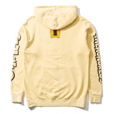 The Hundreds Garfield Flag Pullover Hooded Sweatshirt Pigment Yellow