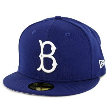 New Era 59Fifty Brooklyn Dodgers 1949 Cooperstown Wool Fitted Hat Dark Royal
