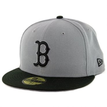 New Era 59Fifty Boston Red Sox Fitted Hat Storm Grey Black