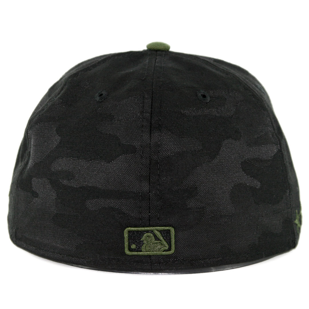 11174b8b8547fb ... promo code for new era 59fifty chicago cubs 2018 memorial day fitted hat  black army green