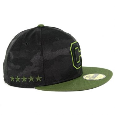 release date: 59f6f a4f14 ... closeout new era 59fifty cleveland indians 2018 memorial day fitted hat  black army green af57e 82037