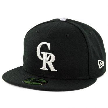 New Era 59Fifty Colorado Rockies Alternate 3 Authentic On Field Fitted Hat Black