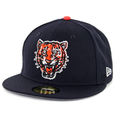 New Era 59Fifty Detroit Tigers 1957 Cooperstown Wool Fitted Hat Dark Navy