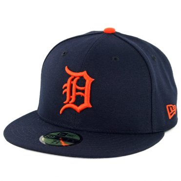 New Era 59Fifty Detroit Tigers 2019 Road Authentic Collection On Field Fitted Hat Dark Navy