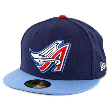 New Era 59Fifty Los Angeles Angels of Anaheim Cooperstown 1997 Fitted Hat Dark Navy