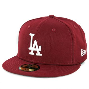 New Era 59Fifty Los Angeles Dodgers Fitted Hat Cardinal