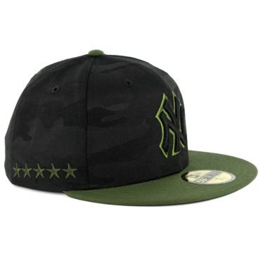 New Era 59Fifty New York Yankees 2018 Memorial Day Fitted Hat Black Army Green