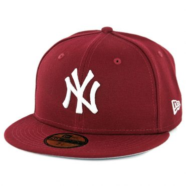 New Era 59Fifty New York Yankees Fitted Hat Cardinal
