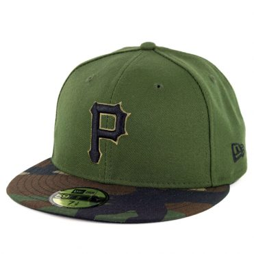 New Era 59Fifty Pittsburgh Pirates Alternate 3 Authentic On Field Fitted Hat Green
