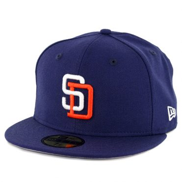 New Era 59Fifty San Diego Padres 1991 Cooperstown Wool Fitted Hat Light Navy