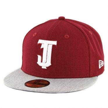 New Era 59Fifty Tijuana Toros Fitted Hat Cardinal White Heather Grey