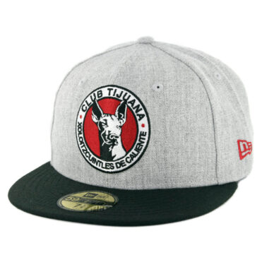 New Era 59Fifty Tijuana Xolos Fitted Hat Heather Grey Black