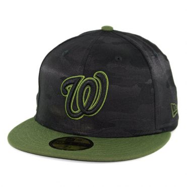 New Era 59Fifty Washington Nationals 2018 Memorial Day Fitted Hat Black Army Green