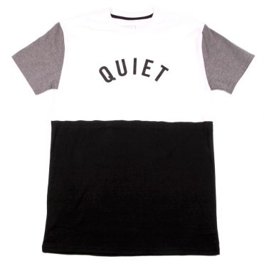 The Quiet Life Block T-Shirt White Black Heather