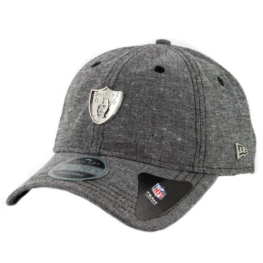 New Era 9Twenty Oakland Raiders Team Badged Strapback Hat Heather Graphite