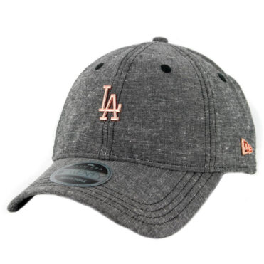 New Era 9Twenty Los Angeles Dodgers Team Badged Strapback Hat Heather Graphite