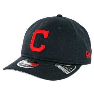 New Era 9Fifty Cleveland Indians Team Choice Retro Snapback Hat Dark Navy