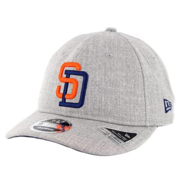 New Era 9Fifty San Diego Padres Heathered Team 1991 Snapback Hat Heather Grey