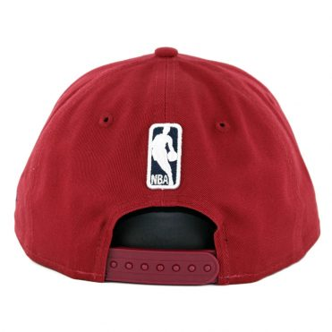 New Era 9Fifty Cleveland Cavaliers Badged Fan Retro Snapback Hat Burgundy